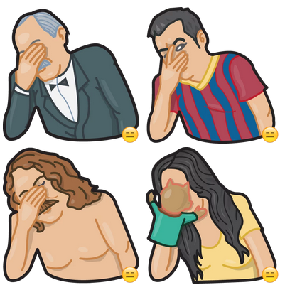 Facepalm Stickers by Gudim
