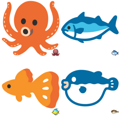 Google Emojis Animals
